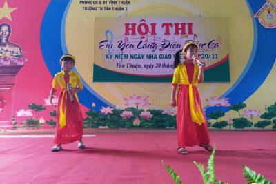 """Hội thi """"Em yêu làn điệu dân ca"""" chào mừng kỉ niệm 38 năm ngày Nhà giáo Việt Nam 20/11"""